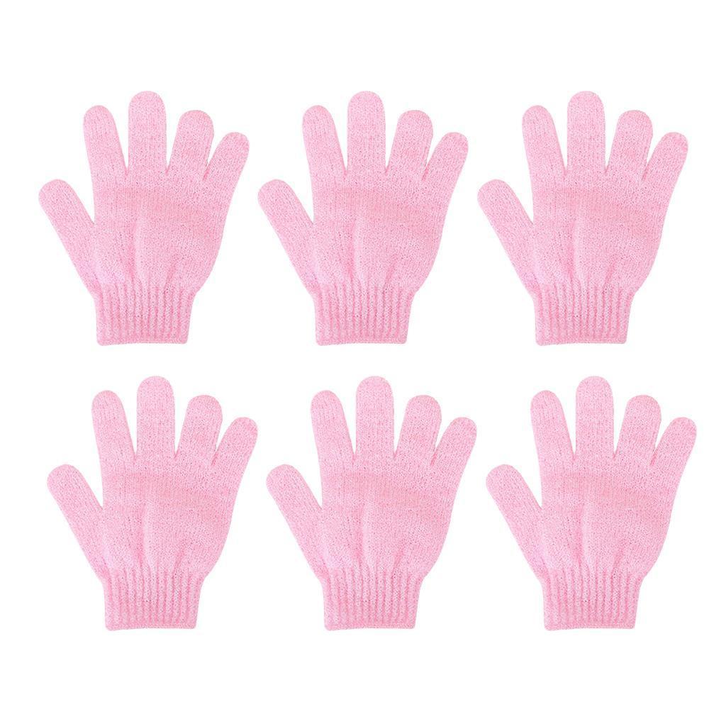 miniatura 14 - 3 Paia Di Guanti Esfolianti Per Il Corpo Body Spa Glove Dry Skin Brush Scrubber