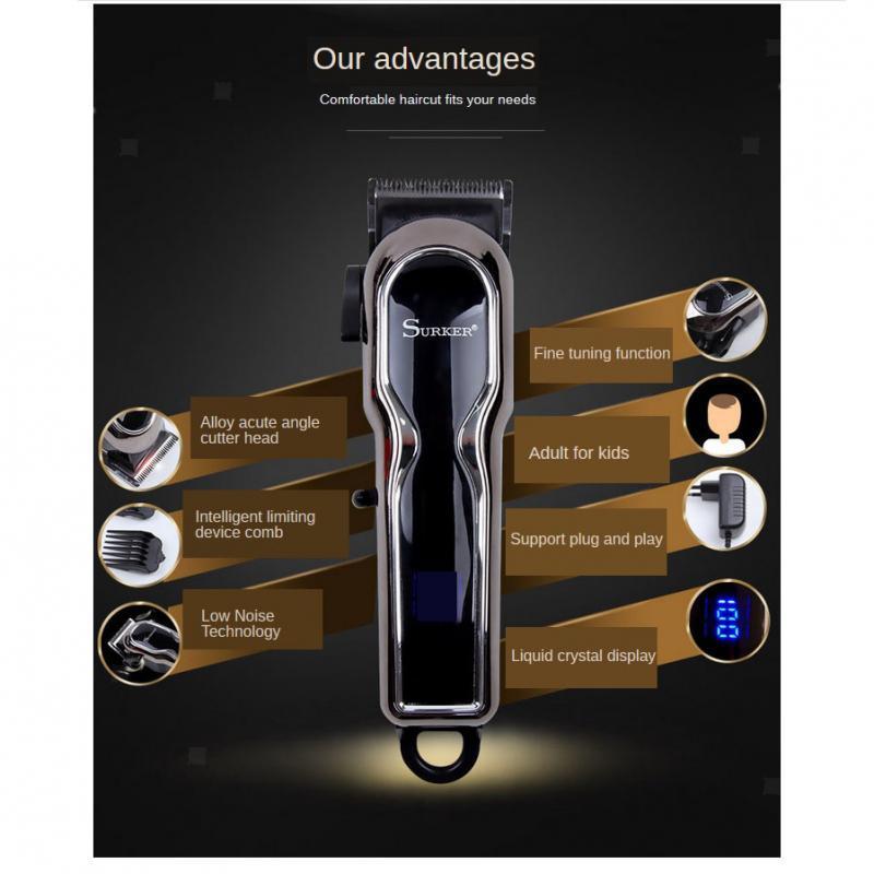 Tondeuse-Cheveux-Homme-Professionnel-Tondeuse-a-Cheveux-sans-Fil-Affichage-LCD miniature 6