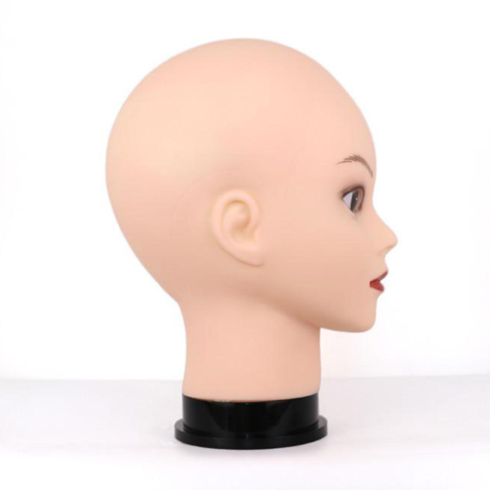 thumbnail 4 - Male-female bald mannequin head wigs hats glasses scarves jewelry