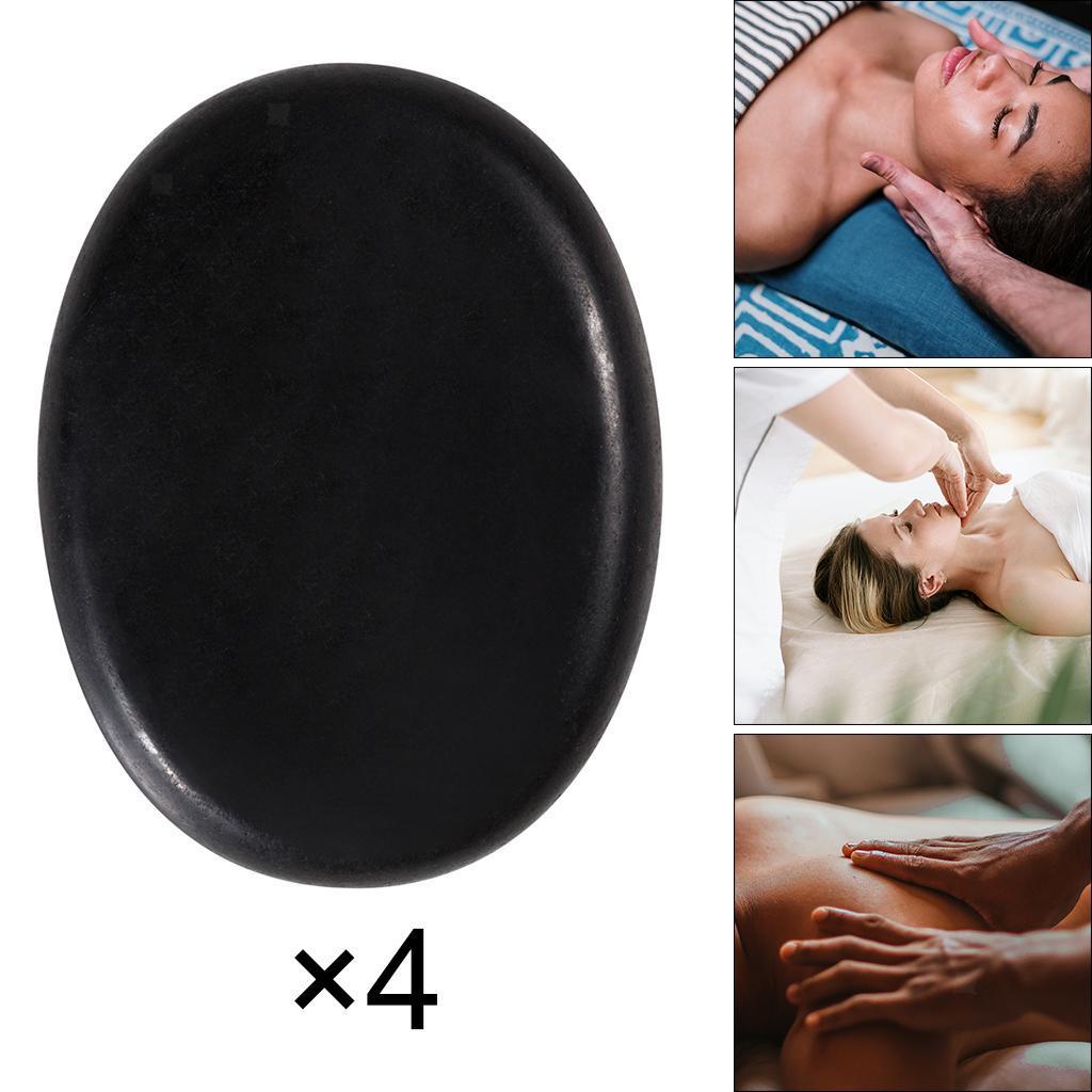 thumbnail 18 - 4 Pcs Professionelle Große Massage Stein Set Basalt Heißer Felsen Steine