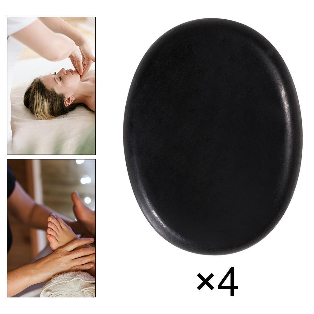 thumbnail 13 - 4 Pcs Professionelle Große Massage Stein Set Basalt Heißer Felsen Steine