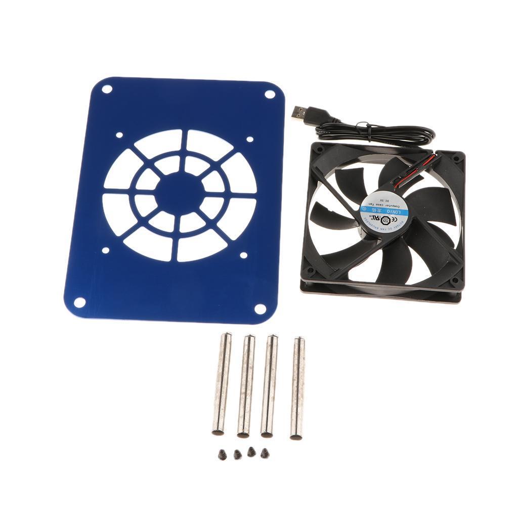 thumbnail 4 - 120mm USB 5V Router Cooling Fan Ventilation Compatible for Laptop DVR Quiet