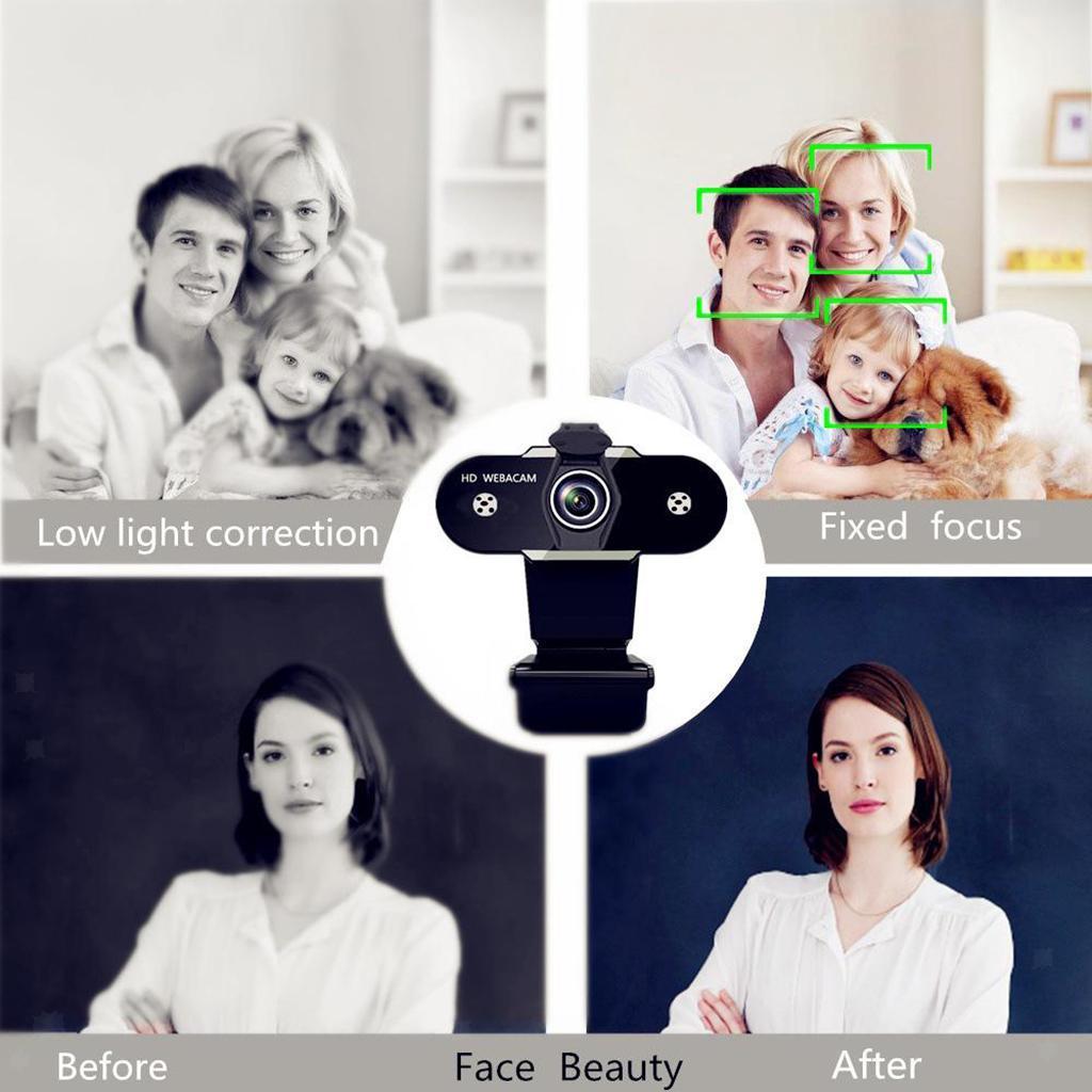 miniatura 19 - Webcam HD, webcam per PC Videocamera per computer mini USB Videocamera con