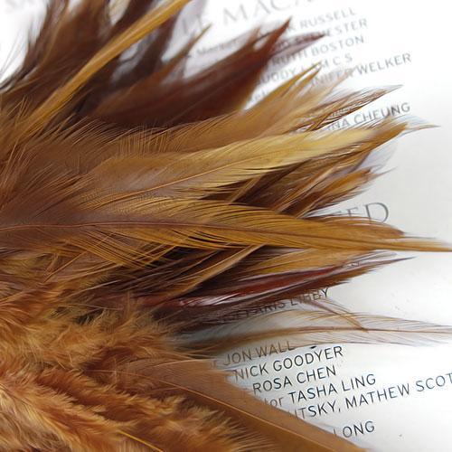 100pcs 4-8cm beaux accessoires de bricolage faits main de plume de faisan