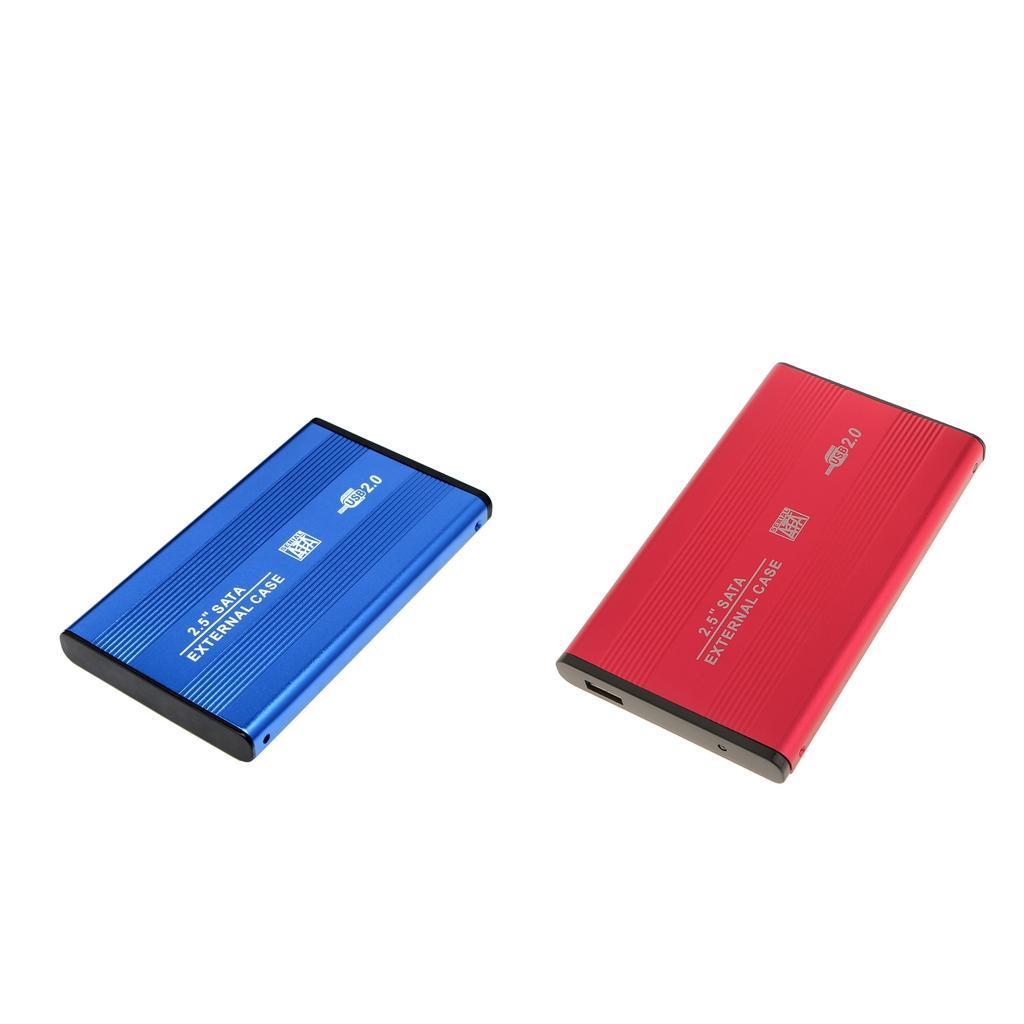 Custodia-esterna-in-alluminio-per-disco-rigido-SATA-USB-2-0-da-2-5-034-con-disco miniatura 3