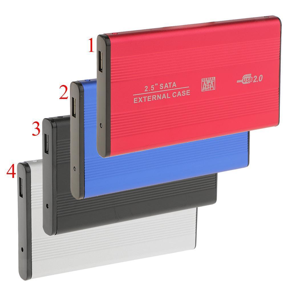 Custodia-esterna-in-alluminio-per-disco-rigido-SATA-USB-2-0-da-2-5-034-con-disco miniatura 4