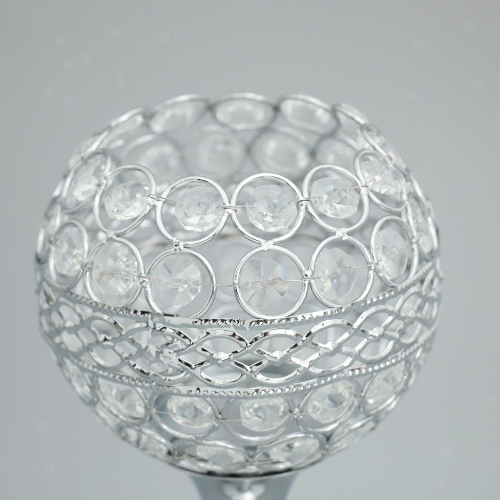 35cm Globe Pillar Kristall Kerze Teelichthalter Kerzenständer Hochzeit