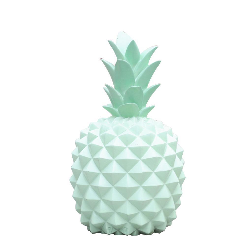 miniatura 7 - Resina A Forma Di Ananas Figurine Manufatti Per Arredamento Salvadanai