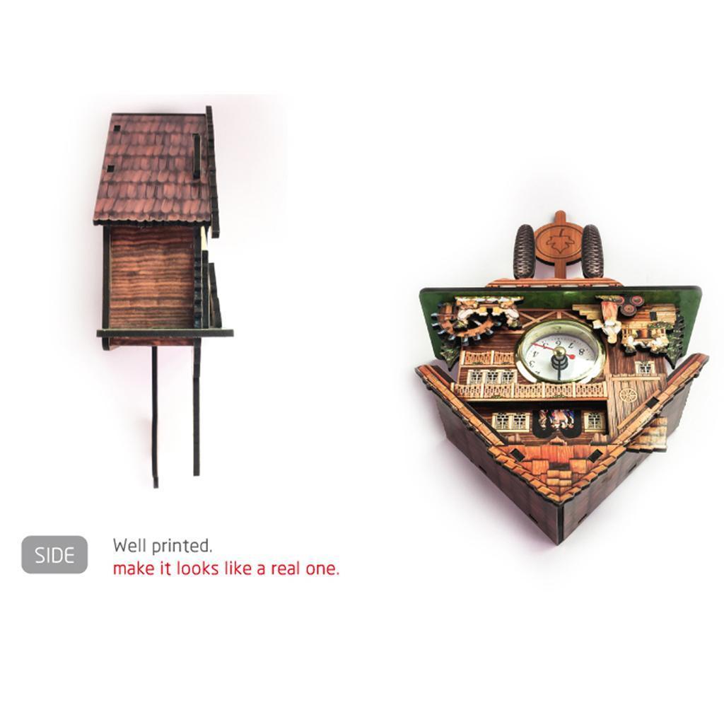 thumbnail 15 - Retro Vintage Style Wall Clock Hanging Handcraft Wooden Cuckoo Clock