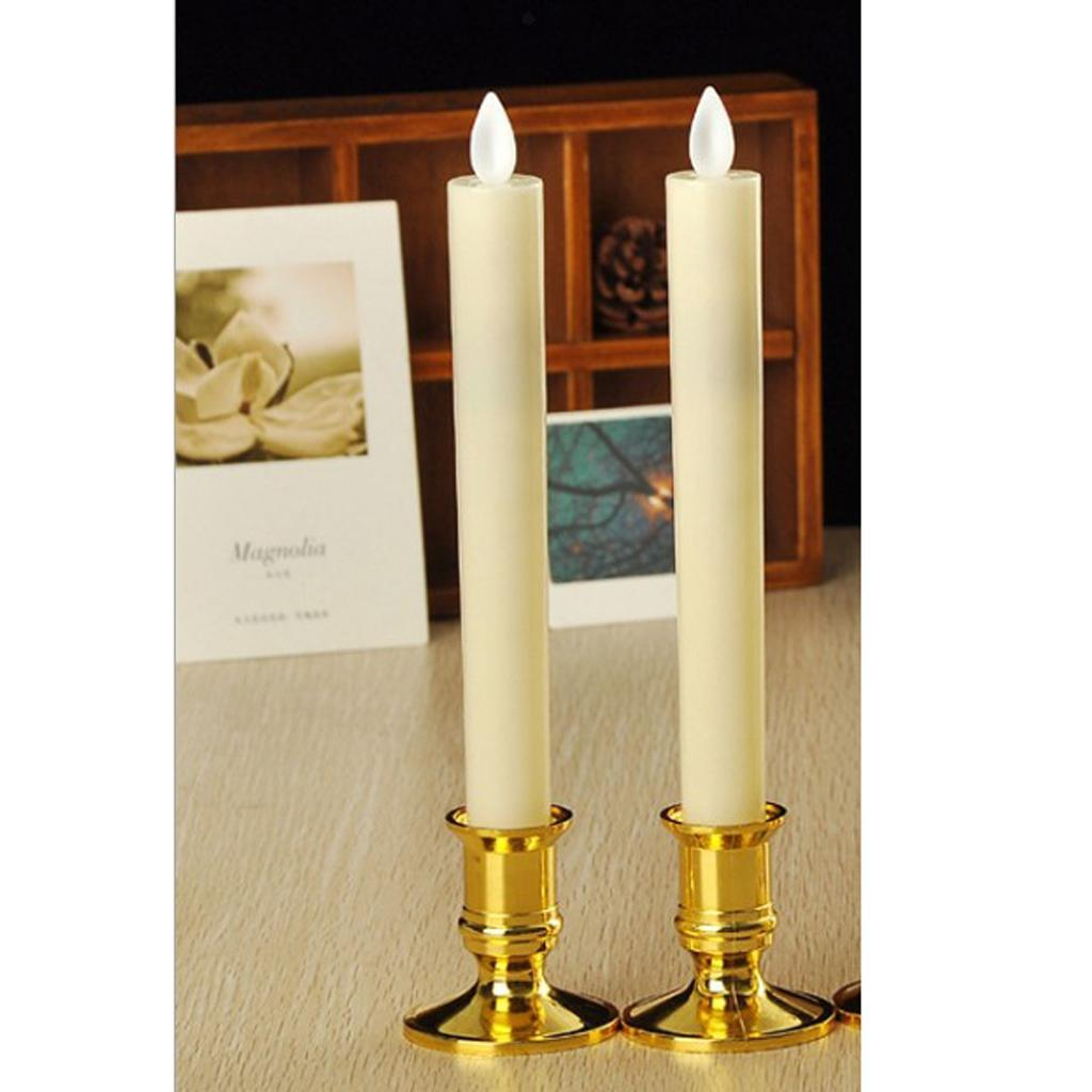 4pcs Battery Operated LED Candle Swinging Dancing Flame Realistic Candles