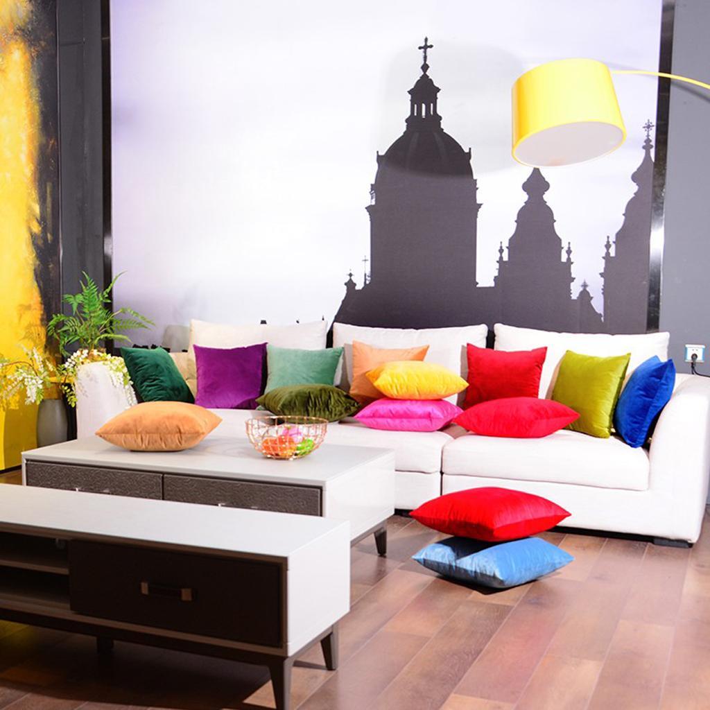 Bright Color Pillow Cases Velvet Decorative Square Throw Pillow Covers Ebay