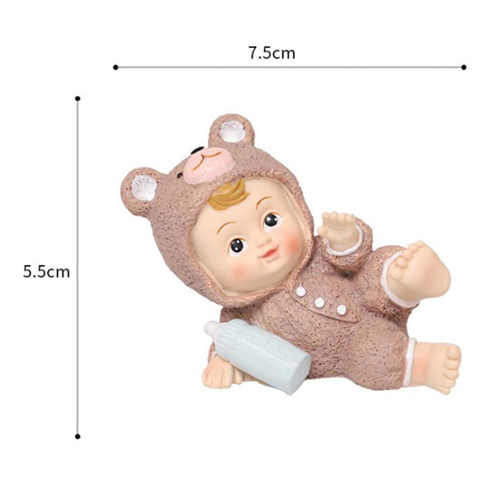 Harz-Mini-Baby-Puppe-Statue-Miniatur-Puppenhaus-Bonsai-Handwerk-Fee-Garten Indexbild 9