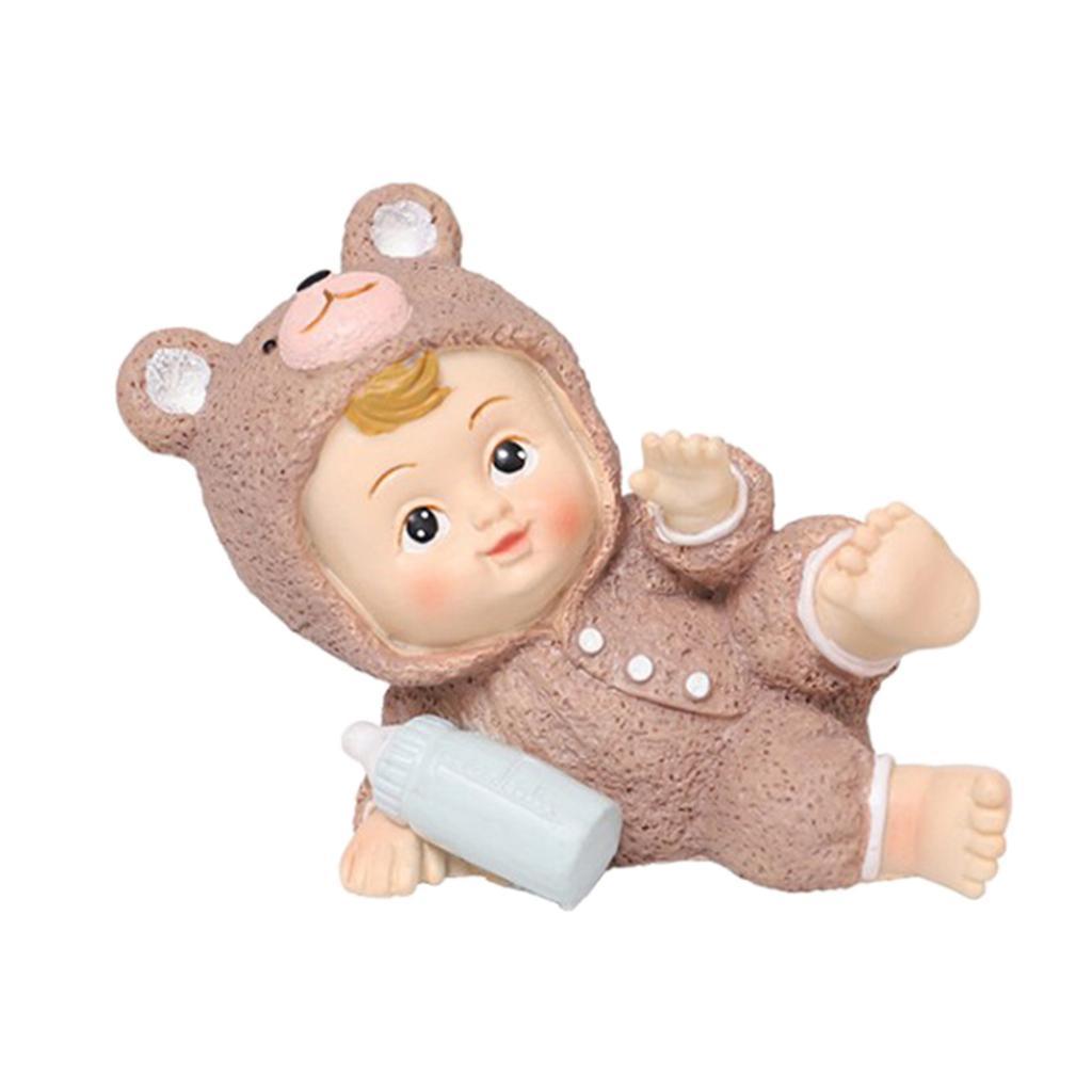 Harz-Mini-Baby-Puppe-Statue-Miniatur-Puppenhaus-Bonsai-Handwerk-Fee-Garten Indexbild 10