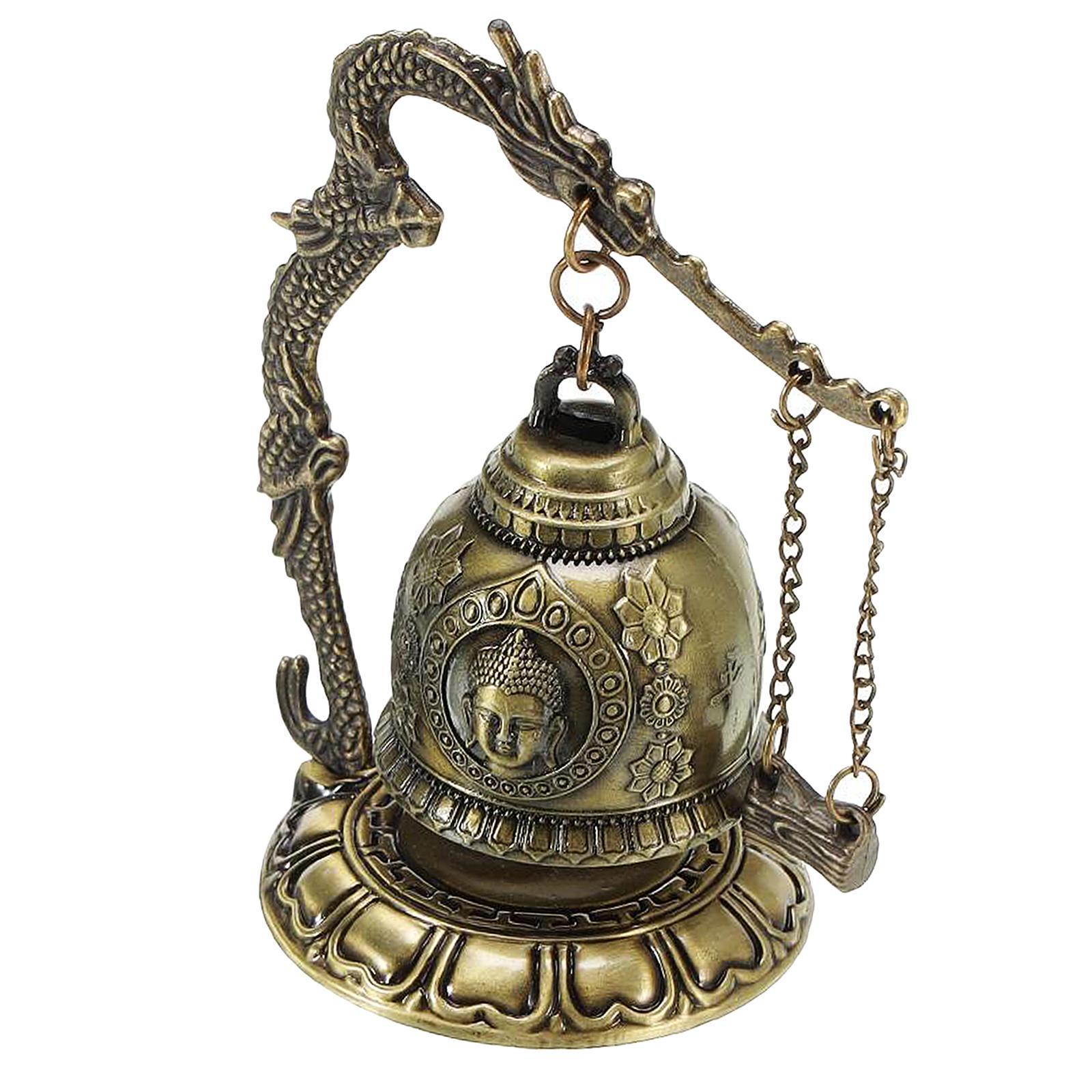 miniatura 35 - Buddha Drago Fengshui campana giocattoli tibetano per Home GIARDINO