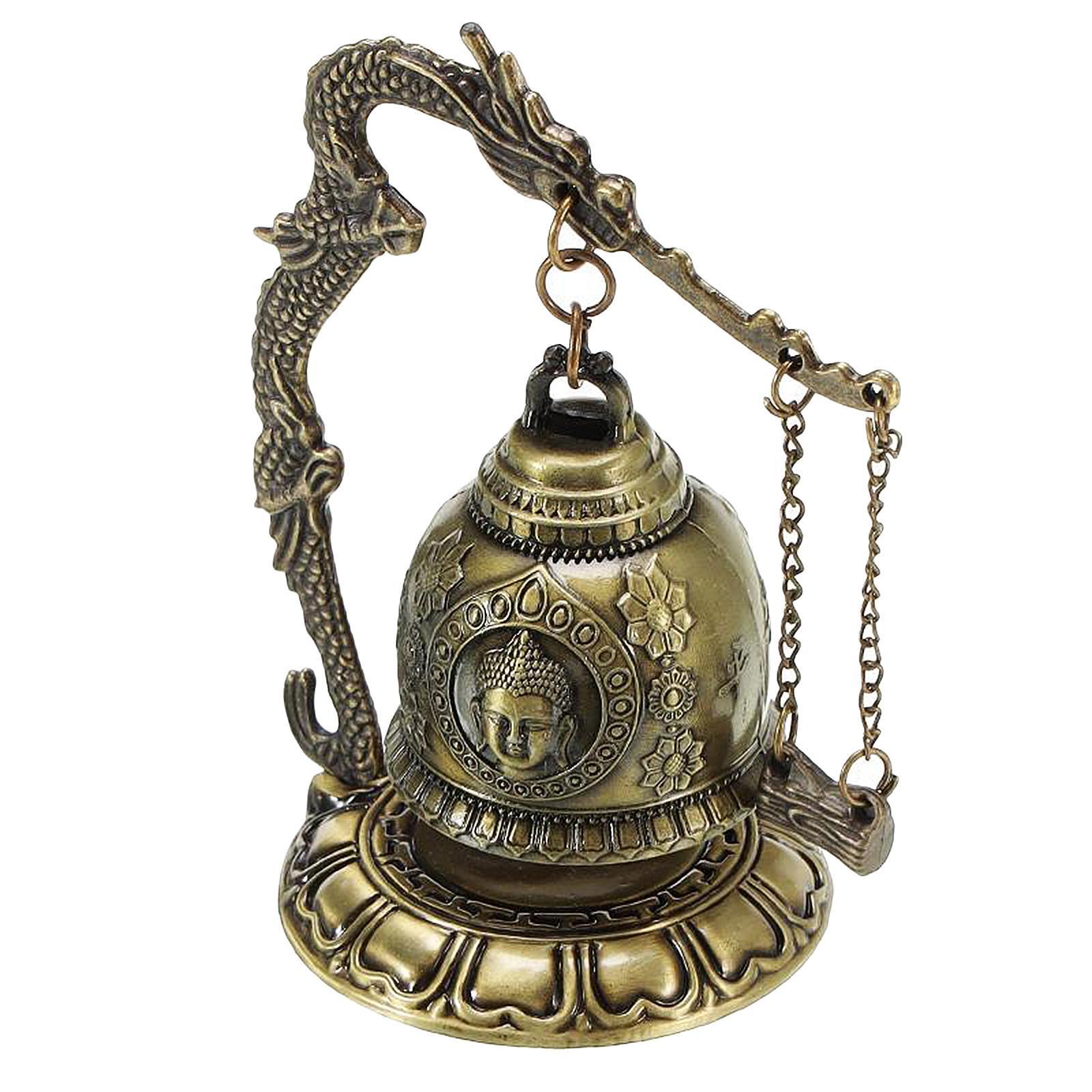 miniatura 32 - Buddha Drago Fengshui campana giocattoli tibetano per Home GIARDINO
