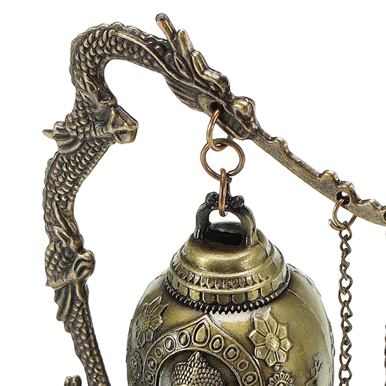 miniatura 34 - Buddha Drago Fengshui campana giocattoli tibetano per Home GIARDINO