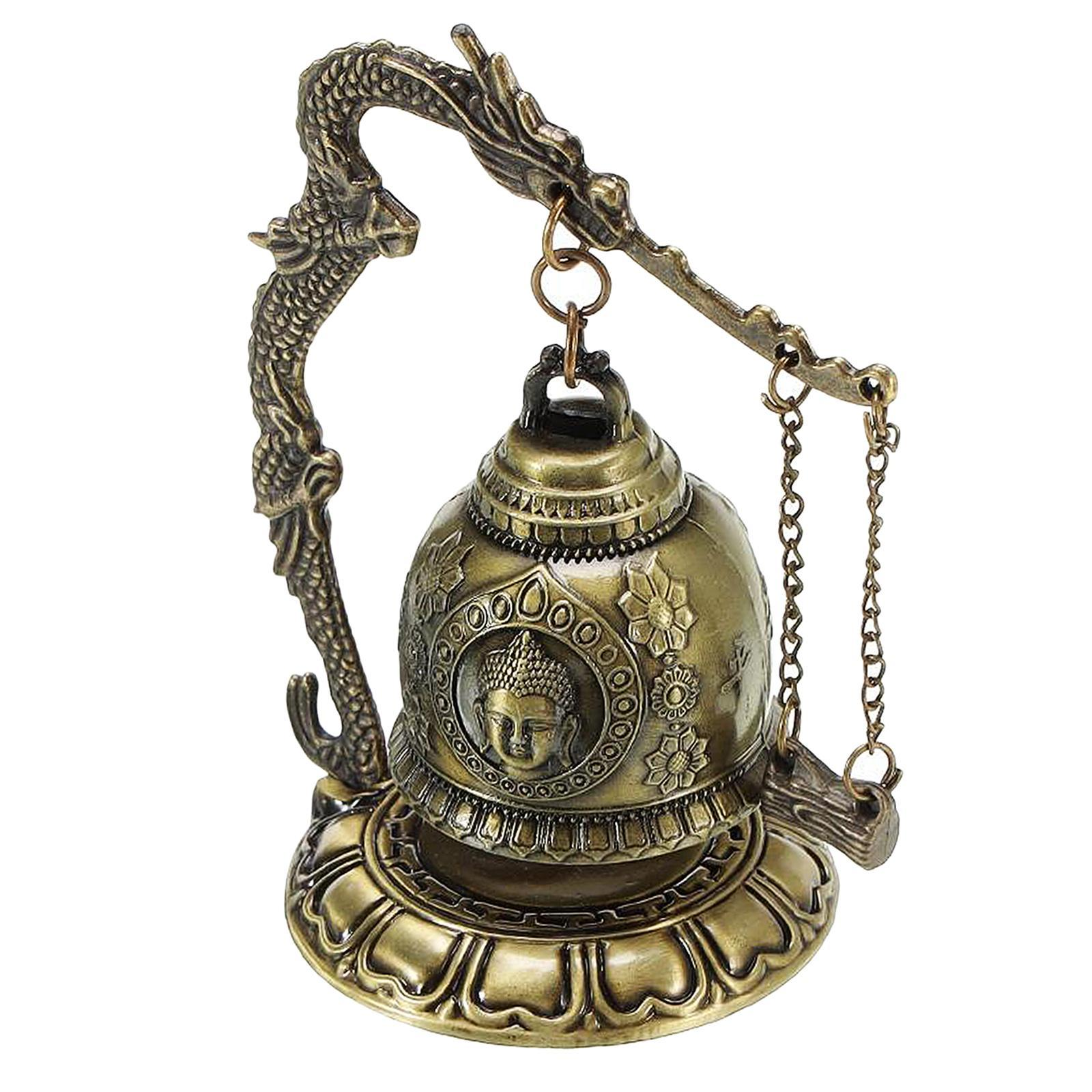 miniatura 30 - Buddha Drago Fengshui campana giocattoli tibetano per Home GIARDINO