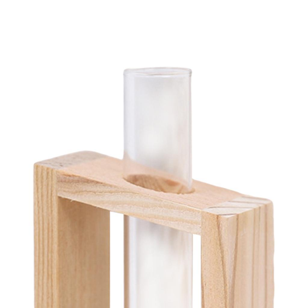 Indexbild 11 - Reagenzglas Vase Holzständer Blumentöpfe Home Planter für