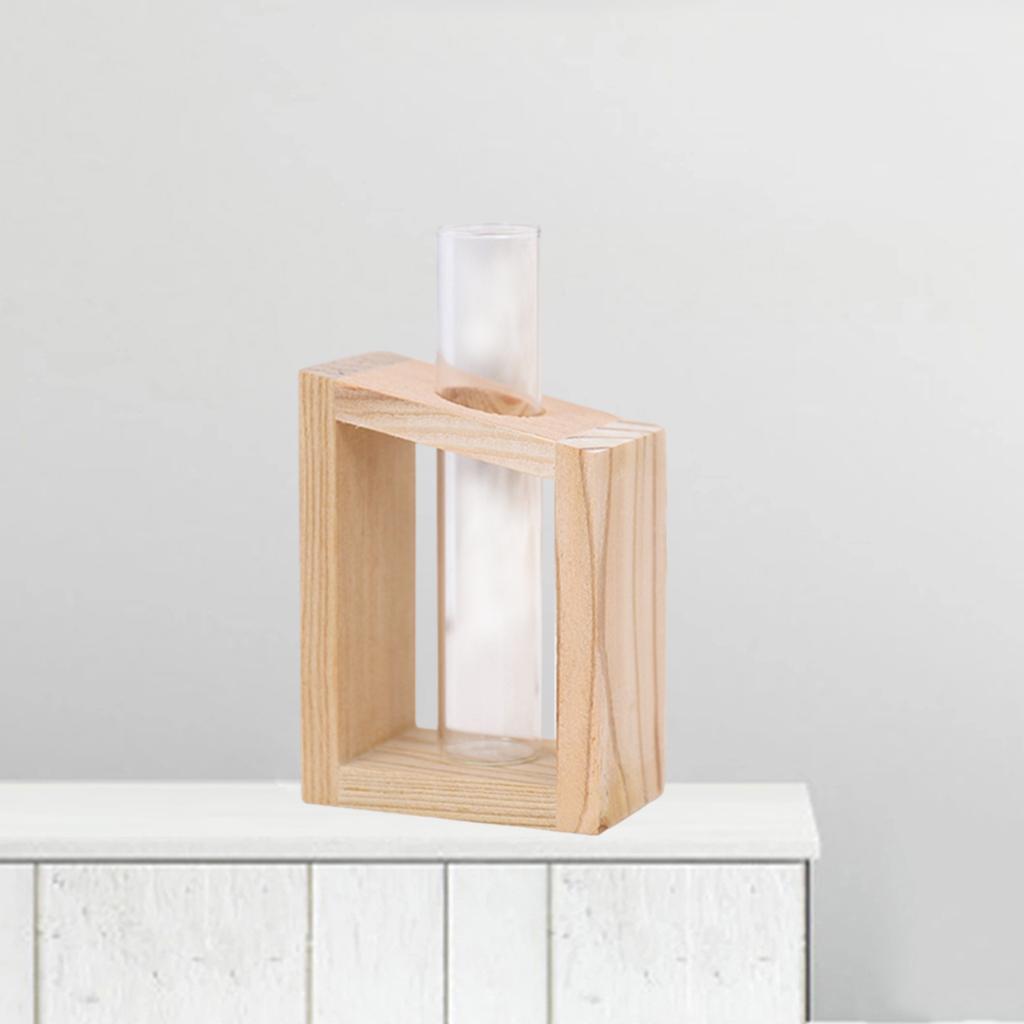 Indexbild 10 - Reagenzglas Vase Holzständer Blumentöpfe Home Planter für