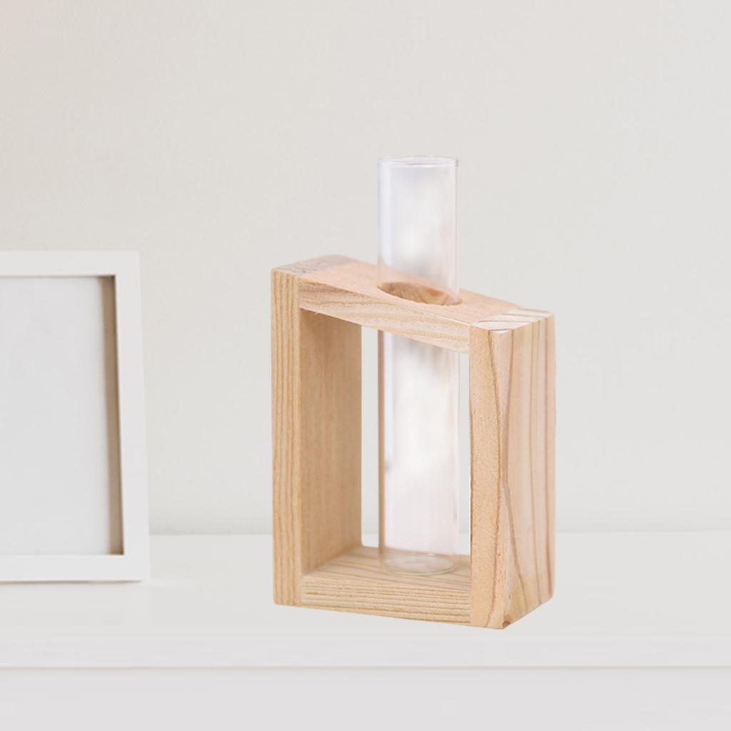 Indexbild 4 - Reagenzglas Vase Holzständer Blumentöpfe Home Planter für