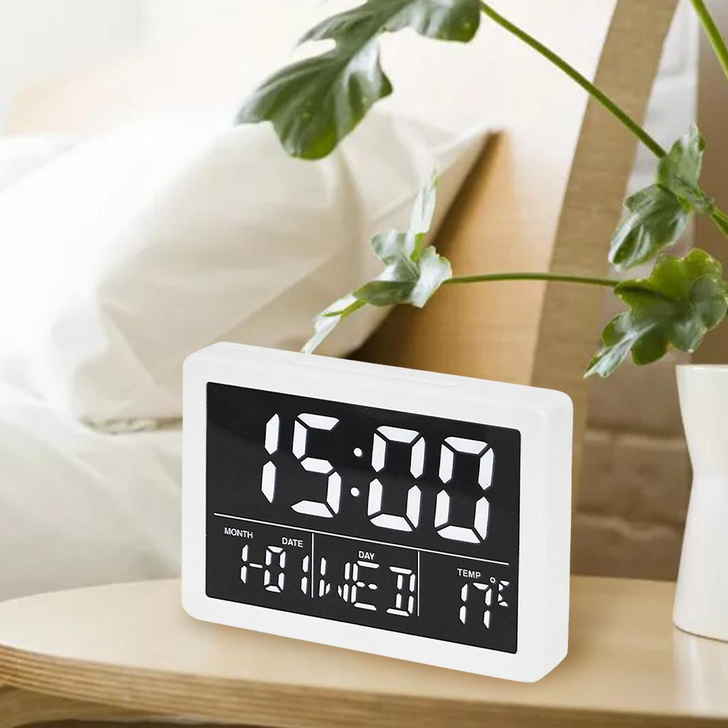 thumbnail 6 - Mirror Alarm Clocks Snooze for Home Bedroom Kitchen Nightstand Office Decor
