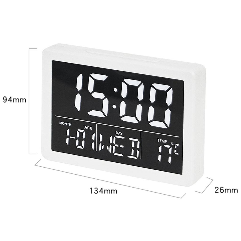 thumbnail 9 - Mirror Alarm Clocks Snooze for Home Bedroom Kitchen Nightstand Office Decor