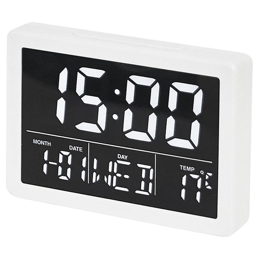 thumbnail 8 - Mirror Alarm Clocks Snooze for Home Bedroom Kitchen Nightstand Office Decor