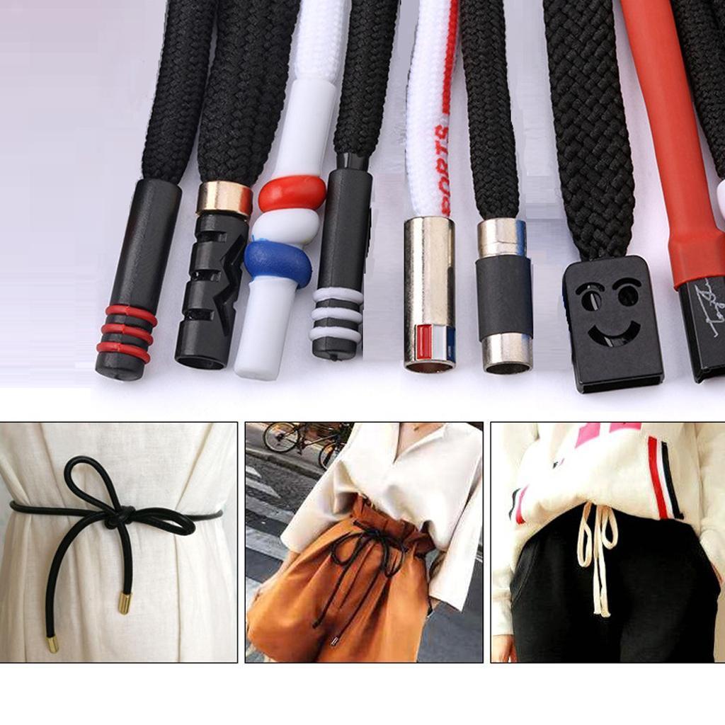 Set of 2 4ft Drawstring Cord 130cm Clothing Crafts Coats Lanyard Sweatpants