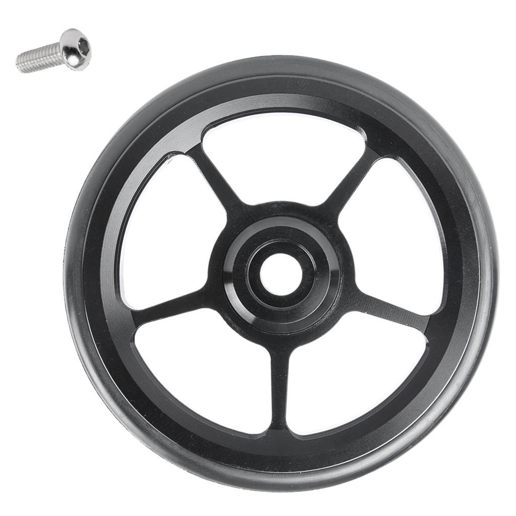 4pc Bike Easy Wheels 6cm Folding Bicycle Easywheel for Brompton Wheel Black