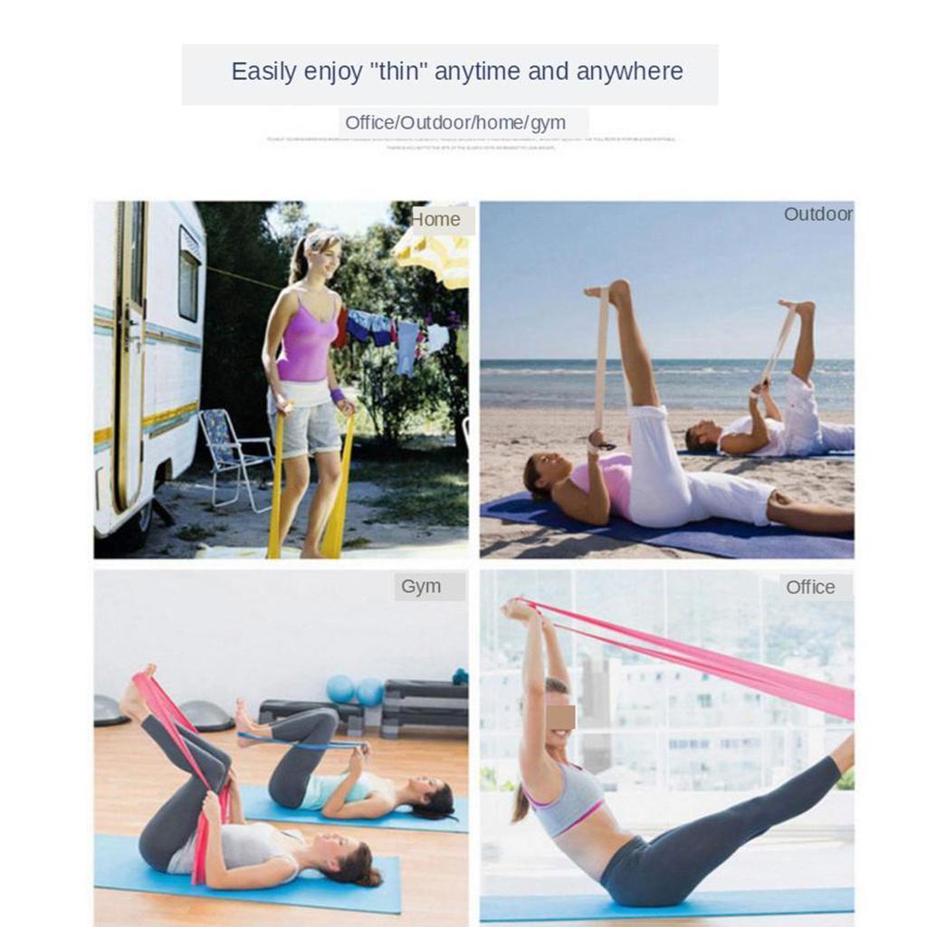 11 Pcs//Set Latex Resistance Bands Crossfit Training Exercise Yoga Tube Pull Rope