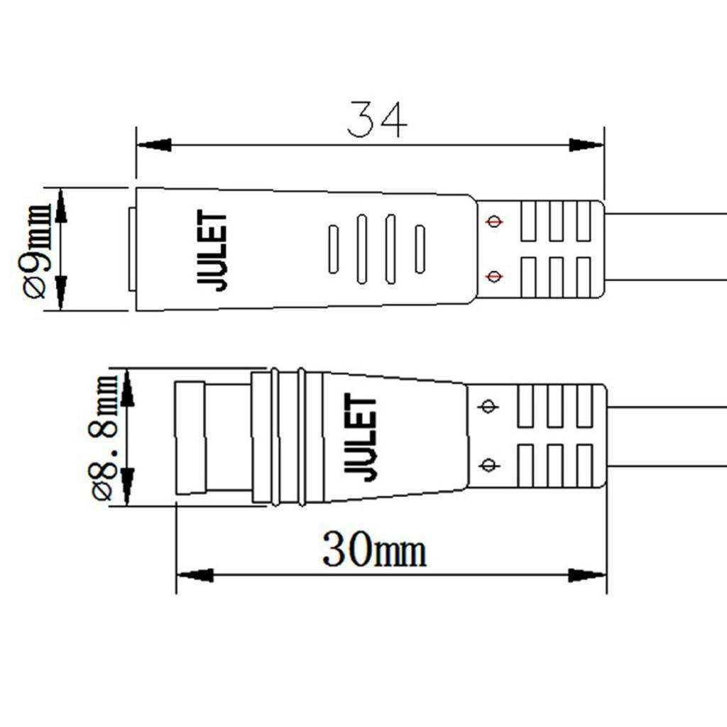 thumbnail 3 - Electric-Bike-Gear-Sensor-Extension-Cable-Ebike-Male-to-Female-Shift-Sensor