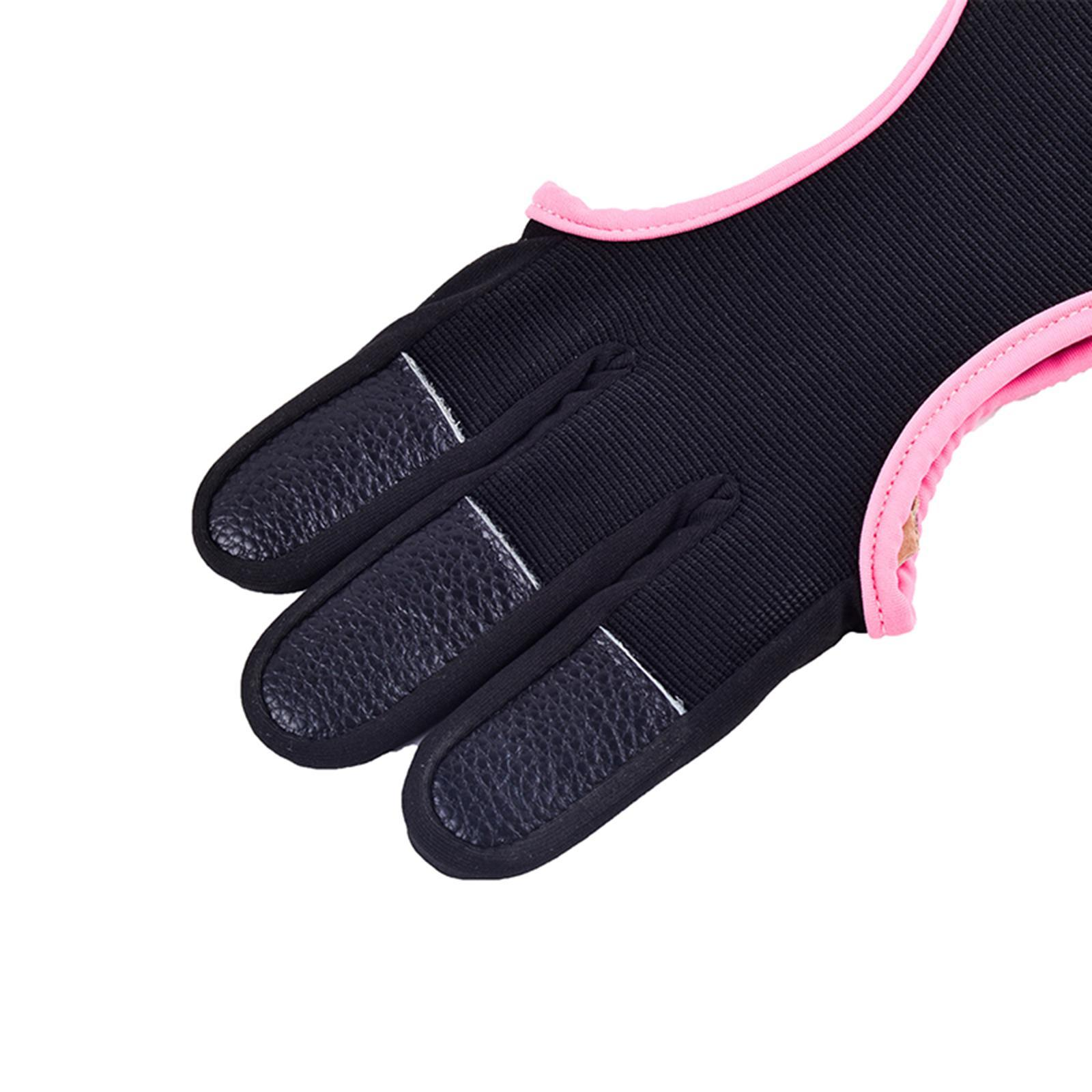 thumbnail 47 - Archery Glove for Recurve & Compound Bow 3 Finger Guard for Women Men Youth