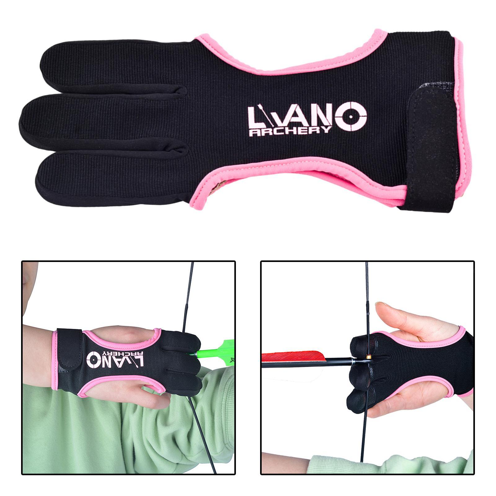 thumbnail 40 - Archery Glove for Recurve & Compound Bow 3 Finger Guard for Women Men Youth