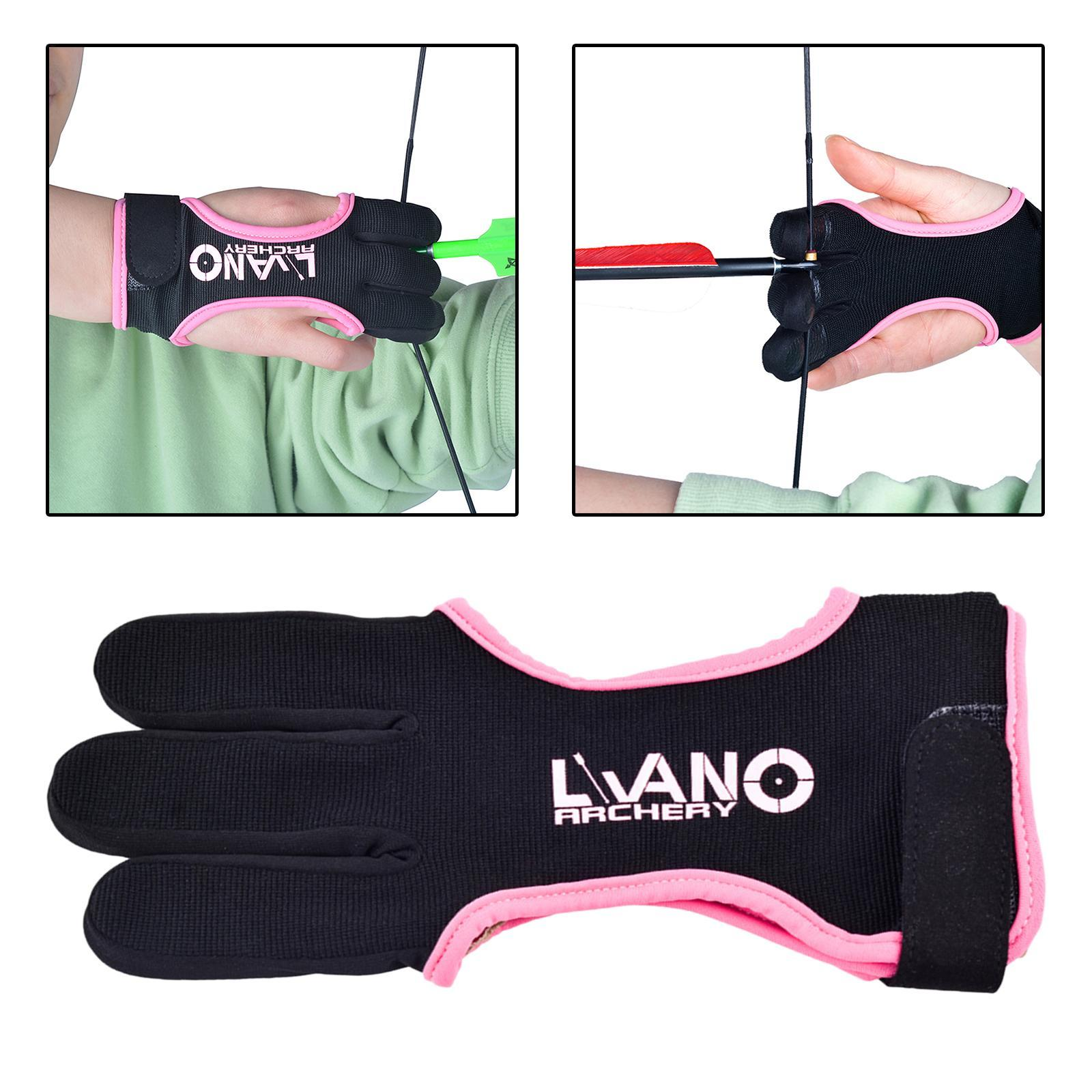 thumbnail 44 - Archery Glove for Recurve & Compound Bow 3 Finger Guard for Women Men Youth