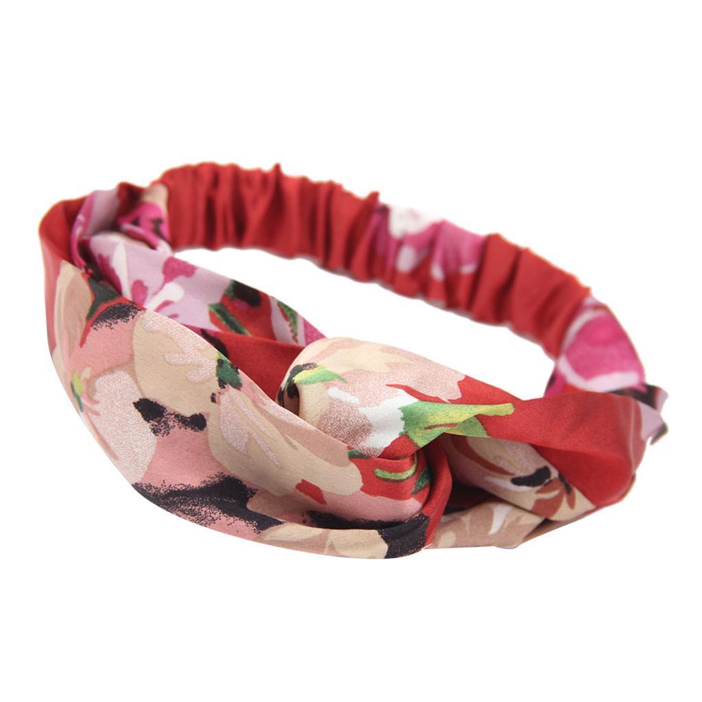 miniatura 4 - Donna Floreale Twisted Knotted Fascia Capelli Head Wrap Turband, Idea Regalo