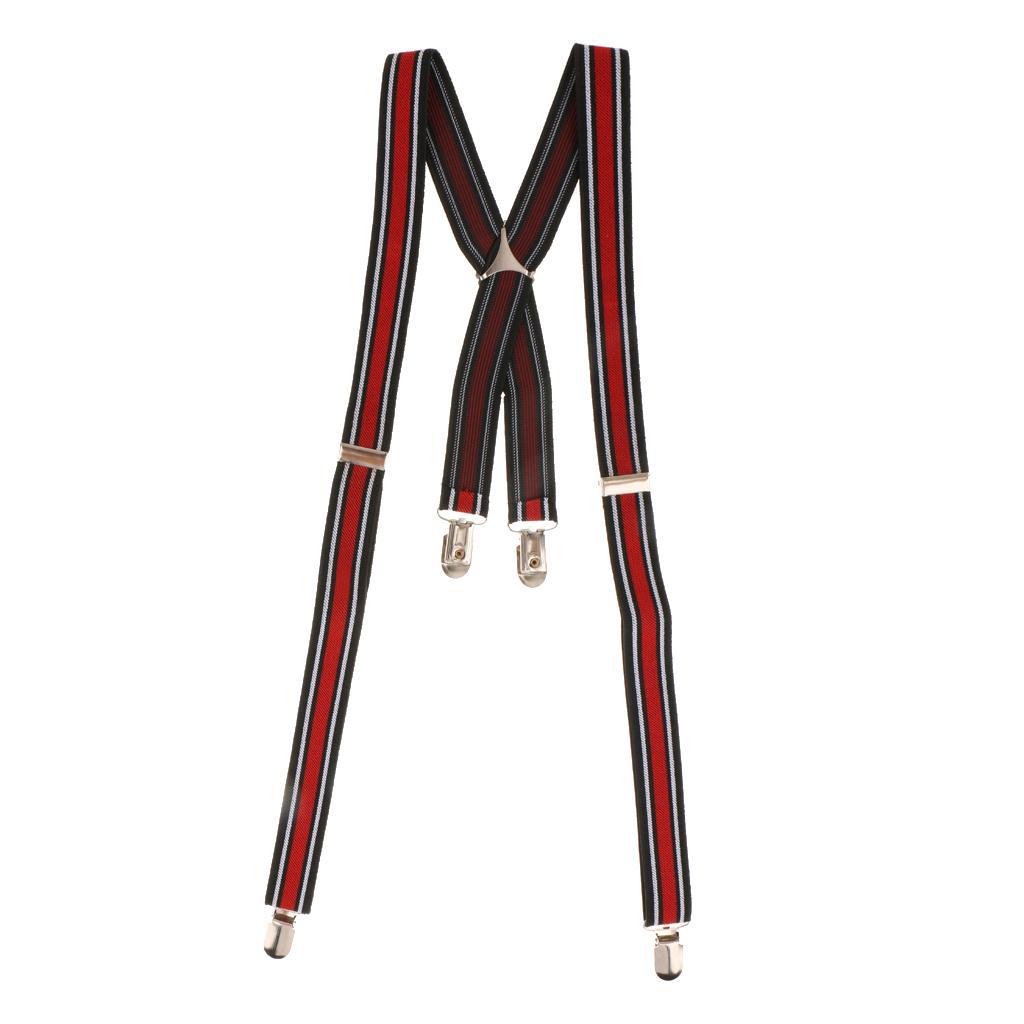 High Quality Unisex Adult Adjustable Dress Jeans Pants Suspender Clip-on Braces