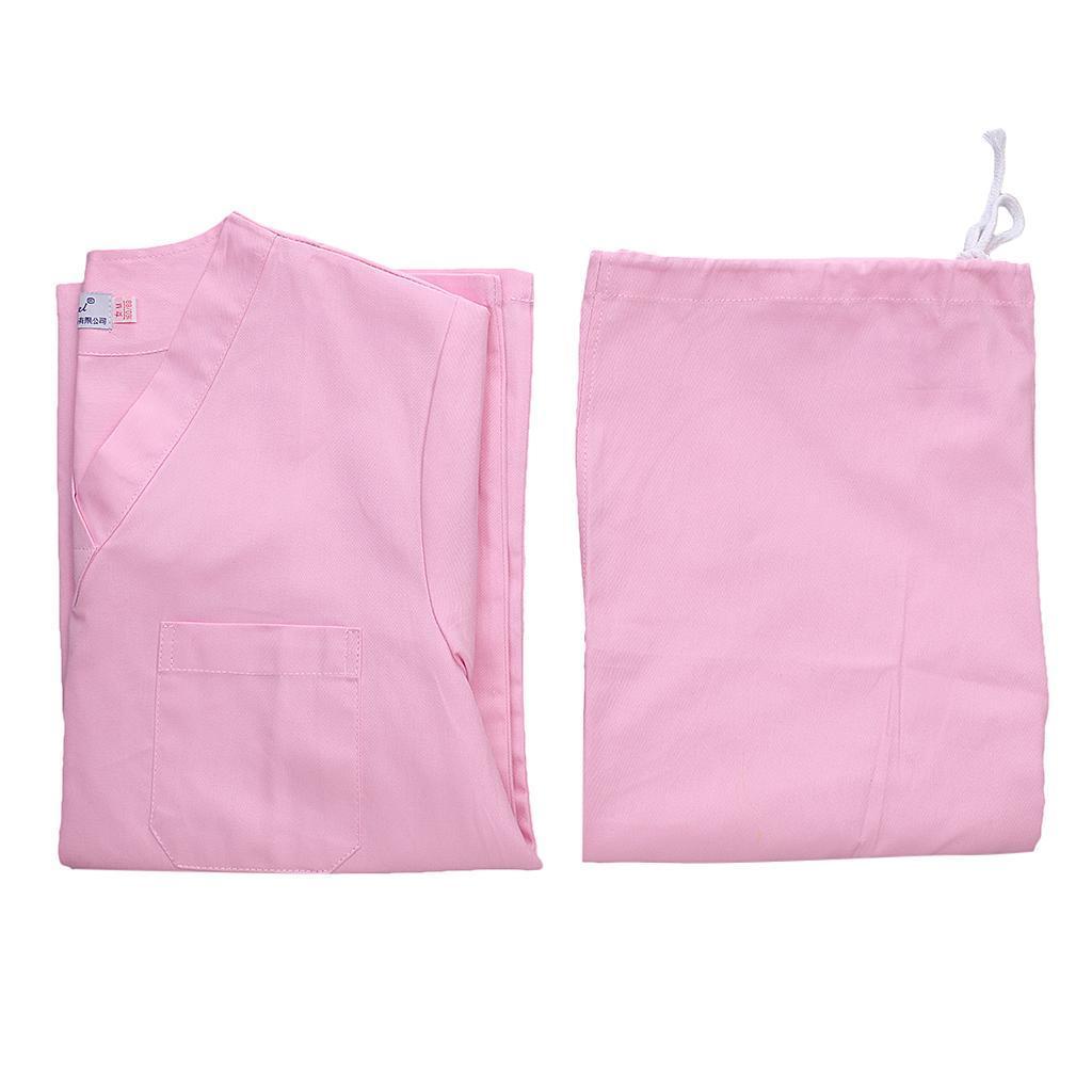 Men-Women-Scrub-Sets-Medical-Spa-Nursing-Clinic-Hospital-Uniform-Top-Pants miniature 34