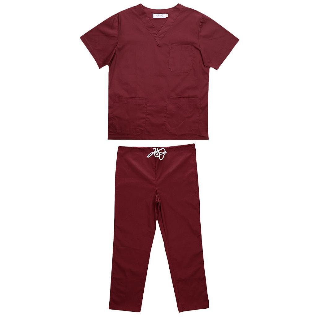 Men-Women-Scrub-Sets-Medical-Spa-Nursing-Clinic-Hospital-Uniform-Top-Pants miniature 69