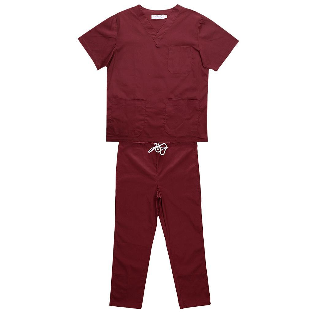Men-Women-Scrub-Sets-Medical-Spa-Nursing-Clinic-Hospital-Uniform-Top-Pants miniature 68