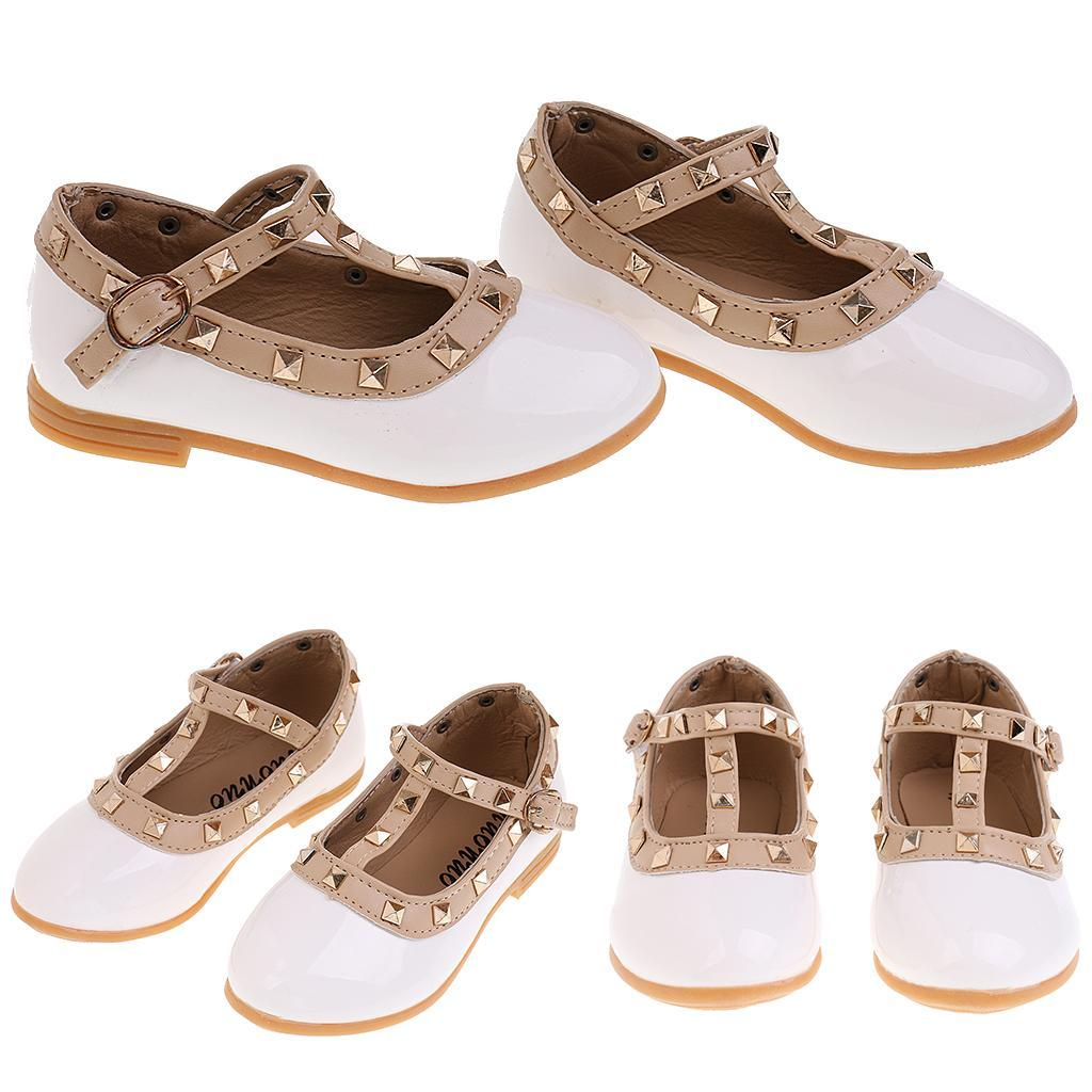 Chaussures-Pour-Enfant-Ballet-Sandales-Paire-Blanc-Accessoire-De-Danse-Fille miniature 3
