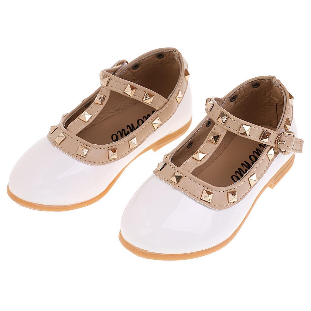 Chaussures-Pour-Enfant-Ballet-Sandales-Paire-Blanc-Accessoire-De-Danse-Fille miniature 18