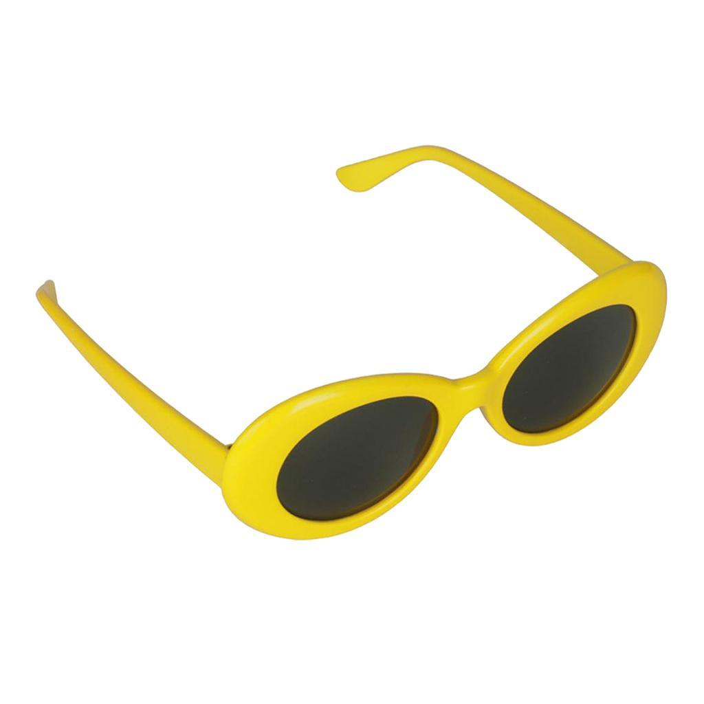 thumbnail 13 - Retro-Kurt-Cobain-Glasses-Clout-Goggles-Sunglasses-Oval-Bold-Mod-Thick-Frame