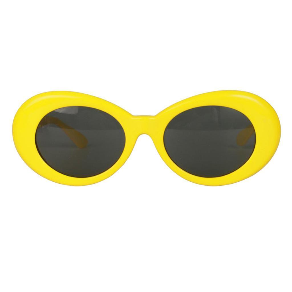 thumbnail 12 - Retro-Kurt-Cobain-Glasses-Clout-Goggles-Sunglasses-Oval-Bold-Mod-Thick-Frame