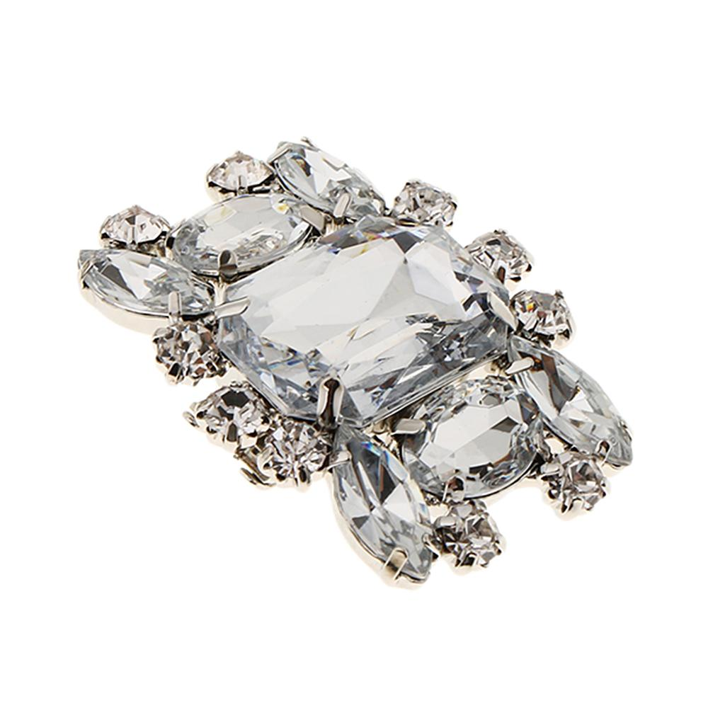 1 Piece Removable Rhinestone Shoe Clip Crystal Shoe Buckles for Wedding Party