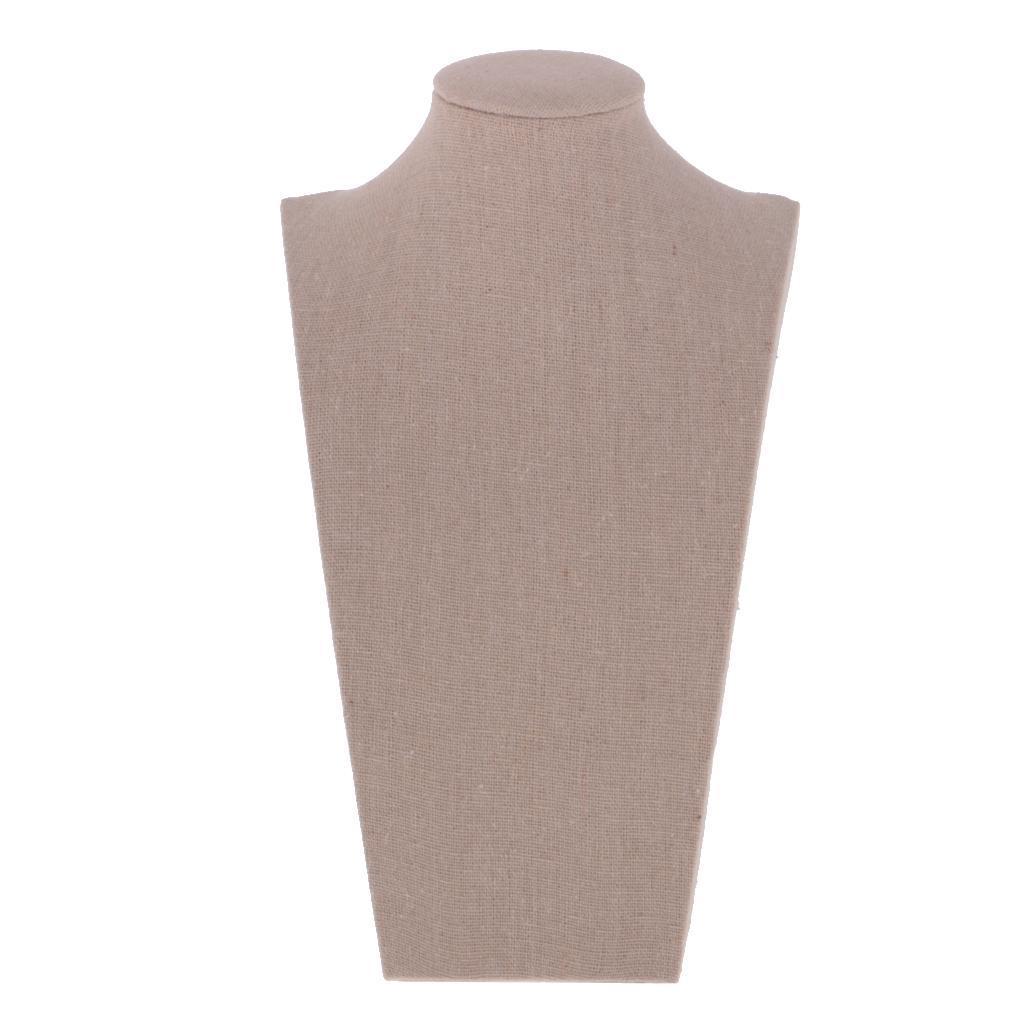 Collar-De-Joyeria-Vintage-Gargantilla-Soporte-De-Exhibicion-Busto-Cuello-Forma miniatura 3
