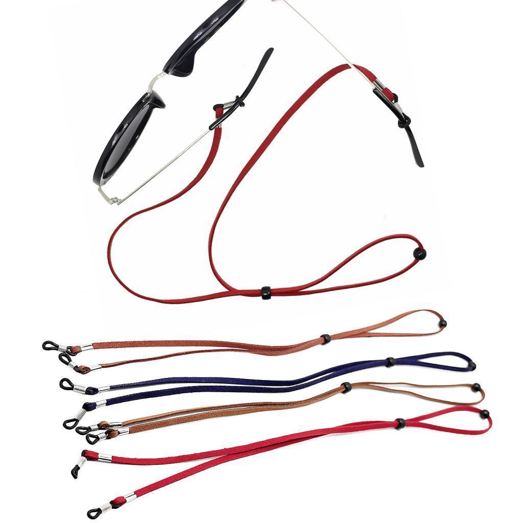 Cordino-Catena-Da-Occhiali-Glasses-Regolabili-In-Fibra-Per-Esercizio-Campeggio miniatura 3