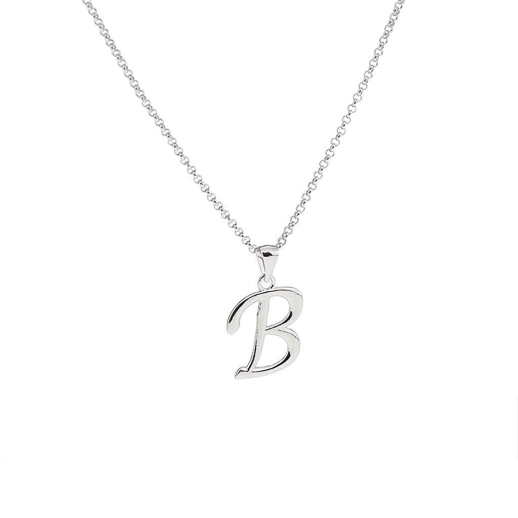 A-Z-Alphabet-Initial-Letter-Pendant-Necklace-Chain-Choker-Jewelry-Men-Women thumbnail 7