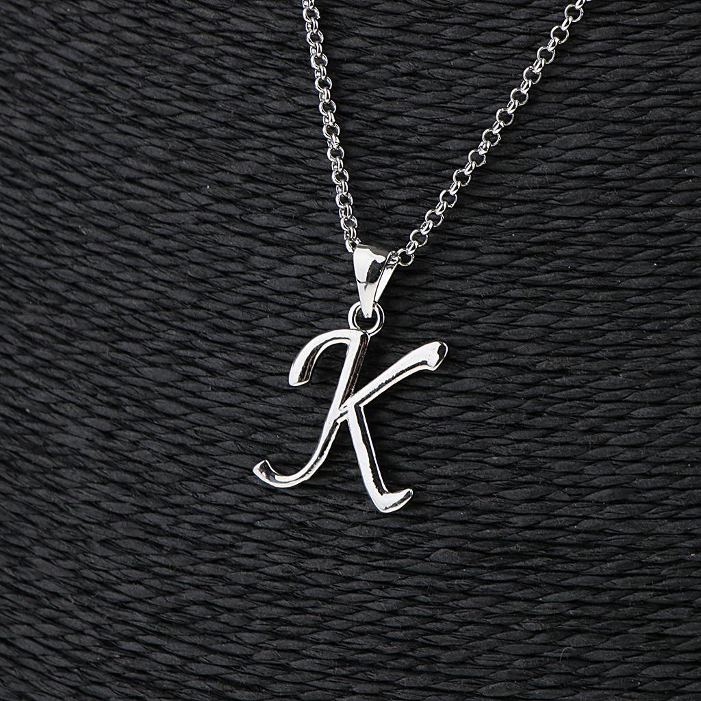 A-Z-Alphabet-Initial-Letter-Pendant-Necklace-Chain-Choker-Jewelry-Men-Women thumbnail 35