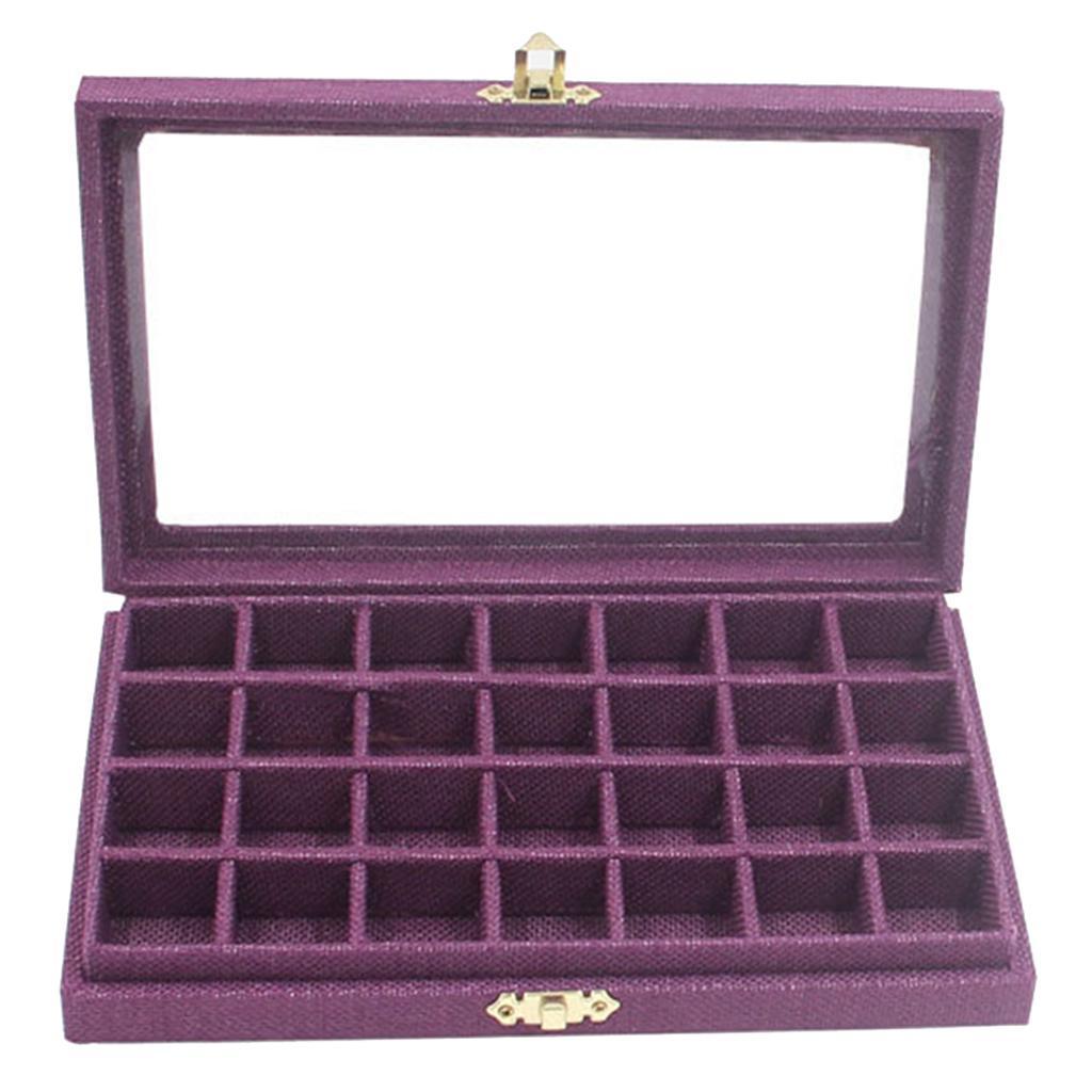 Plateau-a-Bijoux-en-Lin-Organisateur-de-Bijoux-Multifonctionnel-Excellent miniature 7
