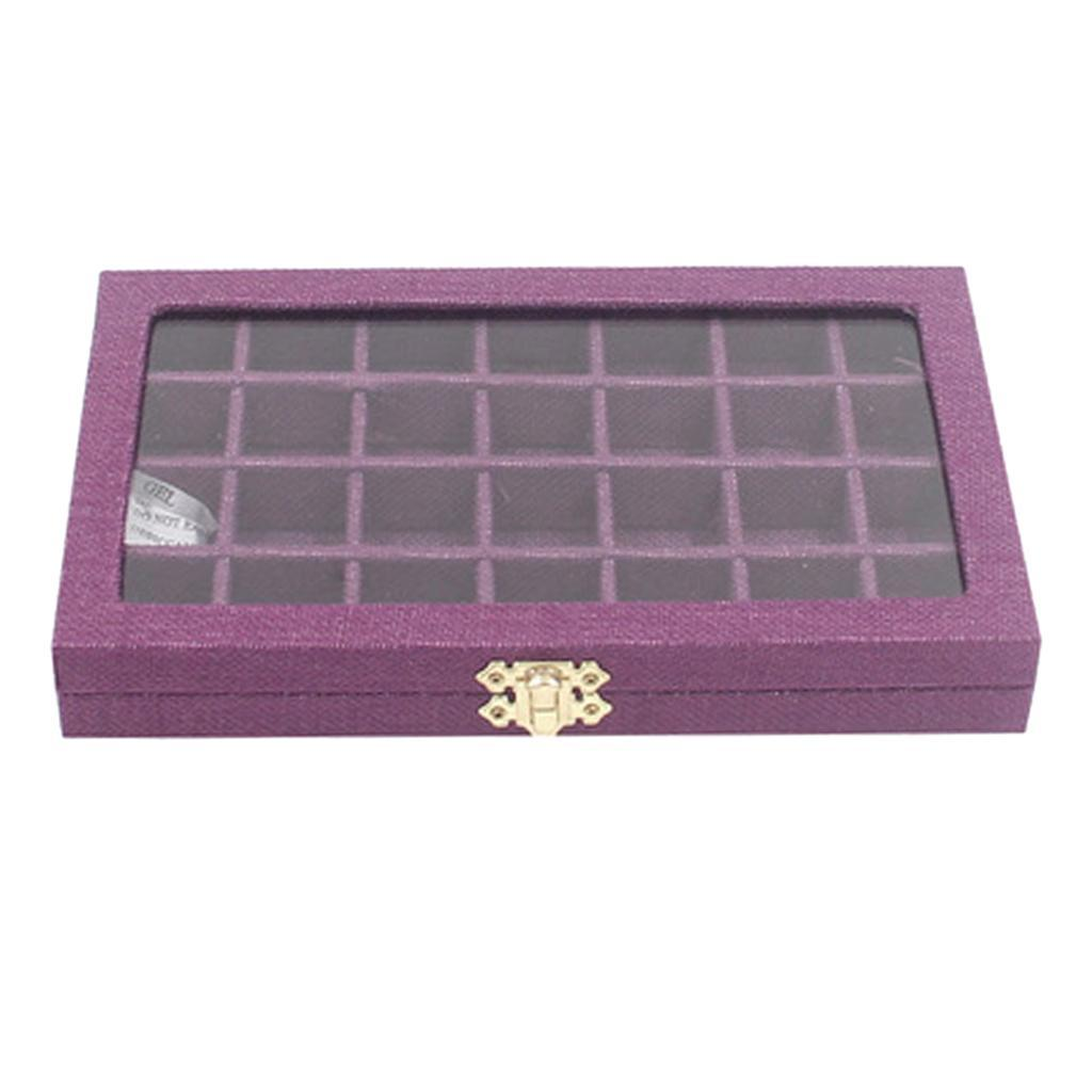 Plateau-a-Bijoux-en-Lin-Organisateur-de-Bijoux-Multifonctionnel-Excellent miniature 6